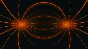 Kameraflyttning in i en ögla för oändligt utrymme för raster 3d Hög definitionrörelsebakgrund som presenterar en oändlig tunnel a Arkivbild