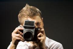 kamerafotofotograf arkivfoton
