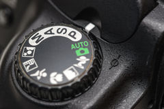 Kamerafunktionslägevisartavla royaltyfria foton