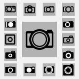 Kameraikonen eingestellt Stockbild