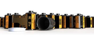 kamerakanisterfilm Arkivbilder