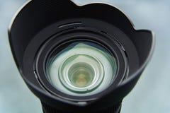 Kameralins med en blandningnärbild på Royaltyfria Bilder