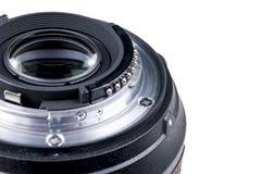 Kameralins med linsreflexioner Lens för SLR enkla Lens reflexkamera digital modern slr för kamera bakgrund detailed isolerade vit Arkivfoto