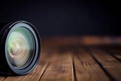 Kameralins med reflexioner Arkivfoton