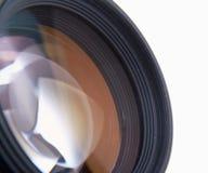 Kameralins som isoleras på vit bakgrund Fotografering för Bildbyråer
