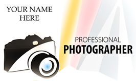 Kameralogo bisiness Karte Stockfoto