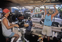 Kameramänner und Besatzung stockbild
