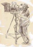Kameraman royaltyfri illustrationer