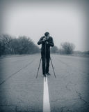 Kameraman som gör en film Arkivfoton