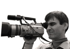 Kameramann. Stockfoto