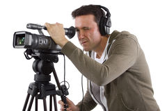 Kameramann stockbild