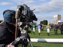 Kameramann At Races Lizenzfreie Stockfotografie