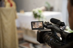 Kameramann und Verbindung Stockbild