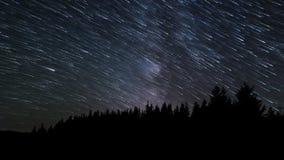 kameran medförda stjärnan för skyen för rotation s för natten för rörelse för jordexponering långa bakkantr lager videofilmer
