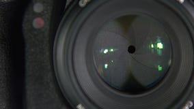 Kameran tar bilder, närbild arkivfilmer