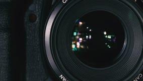 Kameran tar en bild stock video
