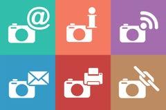 Kameranetzikonen eingestellt Lizenzfreie Stockfotografie