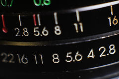 Kameraobjektiv-Makronahaufnahme Lizenzfreie Stockfotos