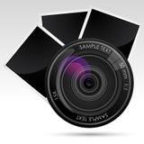 Kameraobjektiv mit Fotographie vektor abbildung