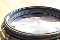 Kameraobjektiv mit lense Reflexionen Nahaufnahme eines photographischen Le Stockbilder