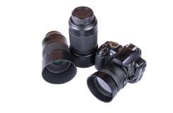 Kameraobjektivabschluß oben lokalisiert Stockfoto