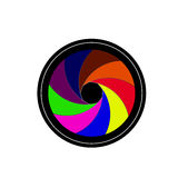 Kameraobjektivfensterladen Vektor Abbildung