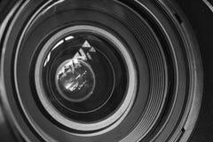 Kameraobjektivhintergrund Stockfoto