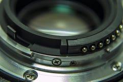 Kameraobjektivverbindungsstück und die Linse für Foto Lizenzfreies Stockfoto