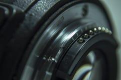 Kameraobjektivverbindungsstück und die Linse für Foto Stockfoto