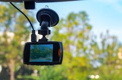 Kamerarecorder angebracht in Fahrzeug Stockfoto