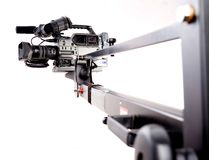 Kamerarecorder auf Kran Lizenzfreie Stockfotografie