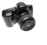 kamerareflex arkivbild
