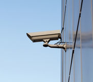 kamerasäkerhetsvägg Arkivfoton