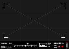 Kamerasucher rec-Hintergrund Kamerafokussierung Lizenzfreie Stockbilder