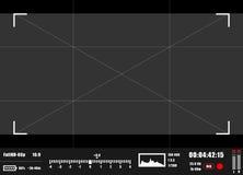 Kamerasucher rec-Hintergrund Kamerafokussierung Stockbilder