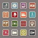Kamerasymbol Arkivbild