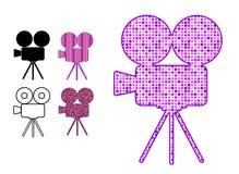 kamerasymbolsfilmen mönsan silhouetten Royaltyfri Foto