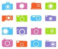 Kamerasymbolsuppsättning Royaltyfria Foton