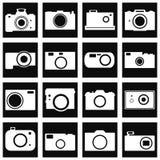 Kamerasymbolsuppsättning Royaltyfria Bilder