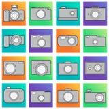 Kamerasymbolsuppsättning Arkivfoto