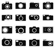 Kamerasymbolsuppsättning Royaltyfri Foto