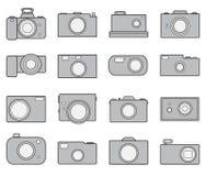 Kamerasymbolsuppsättning Arkivbilder