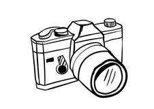 Kamerasymbolsvektor med klotterstil Arkivfoto