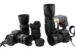 Kamerasystemsobjektiv-Blinkenkarosserien Digital-SLR Lizenzfreie Stockbilder