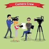 Kamerateam Team People Group Flat Style Stockbild