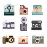 Kameravektorillustration Arkivbilder