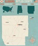 Kamerdynerski okręg administracyjny w Alabama usa Fotografia Royalty Free