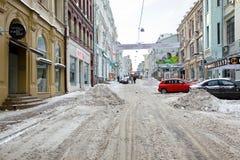 Kamergersky车道 莫斯科 免版税库存图片