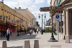 Kamergersky gata i Moskva Royaltyfri Bild