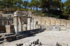 Kameriros city ruin. Rhodes, Greece Royalty Free Stock Image